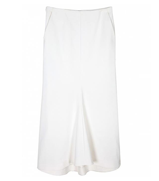 Tibi Ivory Agathe Fluted Skirt