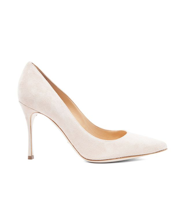 Sergio Rossi Godiva Suede Pumps in New Nude