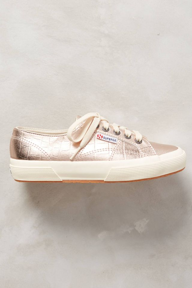 Superga Metallic Sneakers in Pink