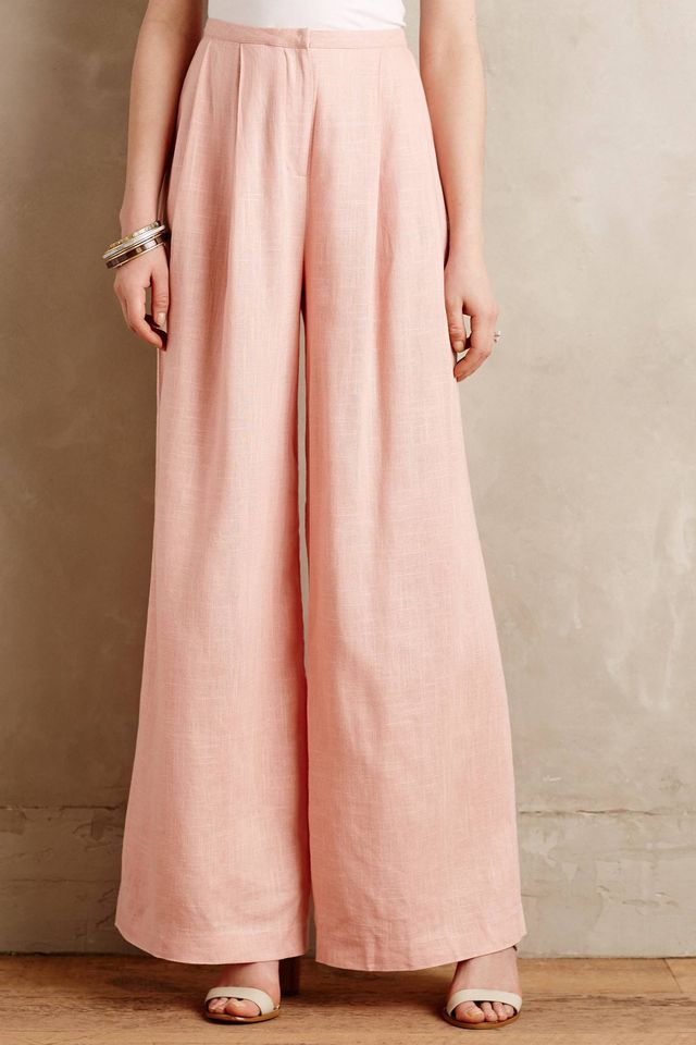 Champagne & Strawberry Soren Wide-Leg Trousers