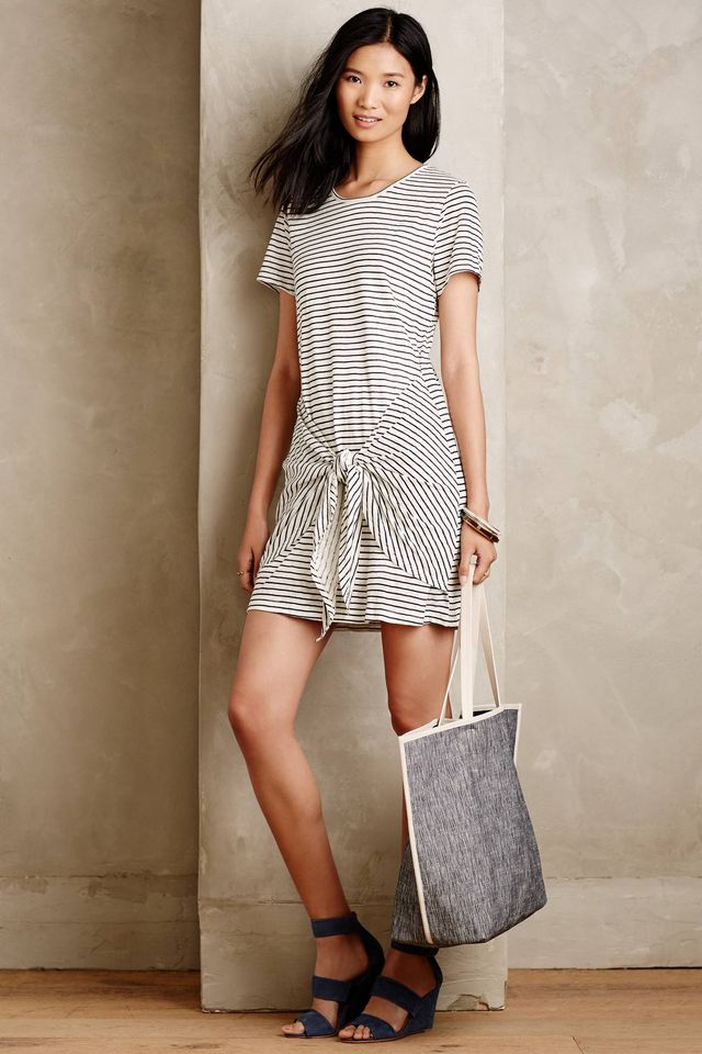 Dolan Stripeknit Linen Dress