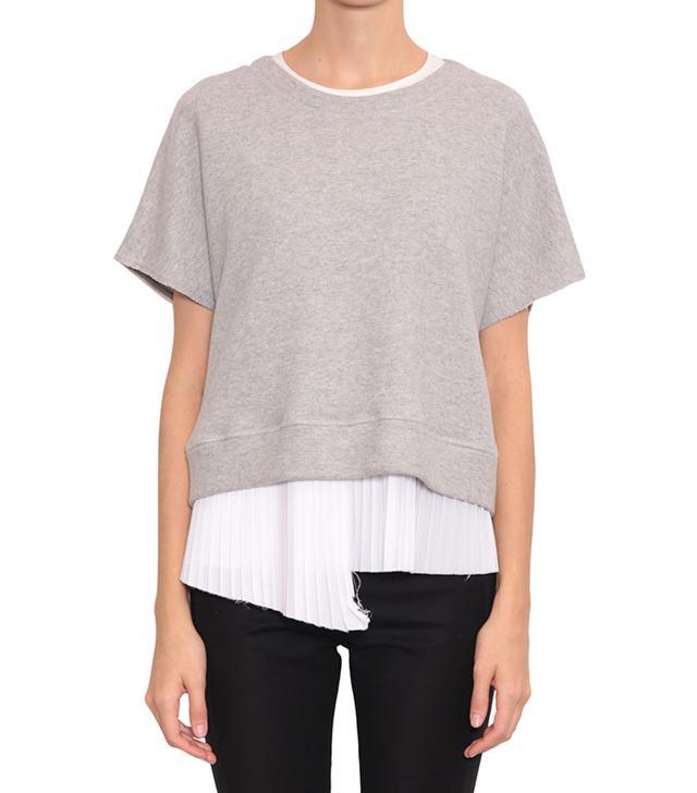 Derek Lam 10 Crosby Cotton Jersey Sweatshirt