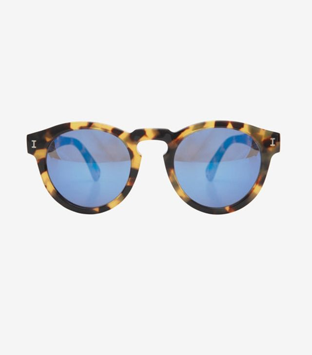 Illesteva Leonard Mirrored Lense Sunglasses
