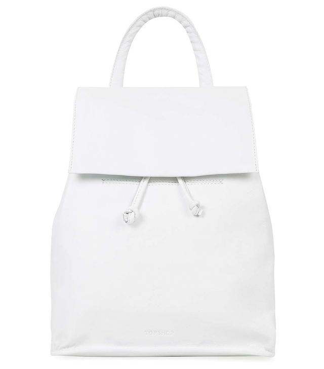 Topshop Smart Leather Backpack