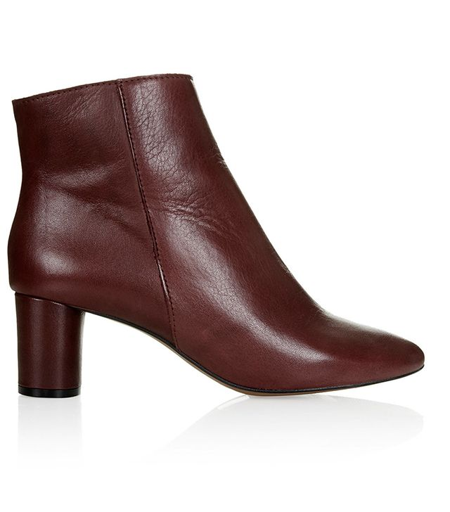Topshop Aggy Low Heel Ankle Boots