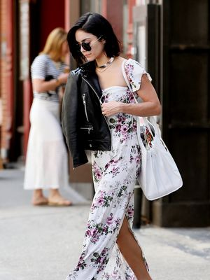 Vanessa Hudgens' Edgy Take on a Floral Maxi Dress
