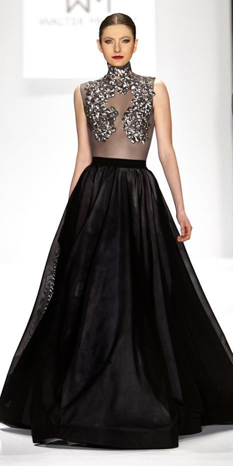 Walter Mendez Galaxy Chiffon Gown