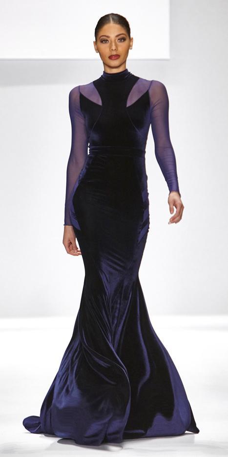 Walter Mendez Serenity Velvet Gown