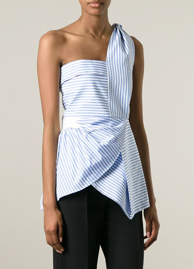 J.W. Anderson Striped One Shoulder Top