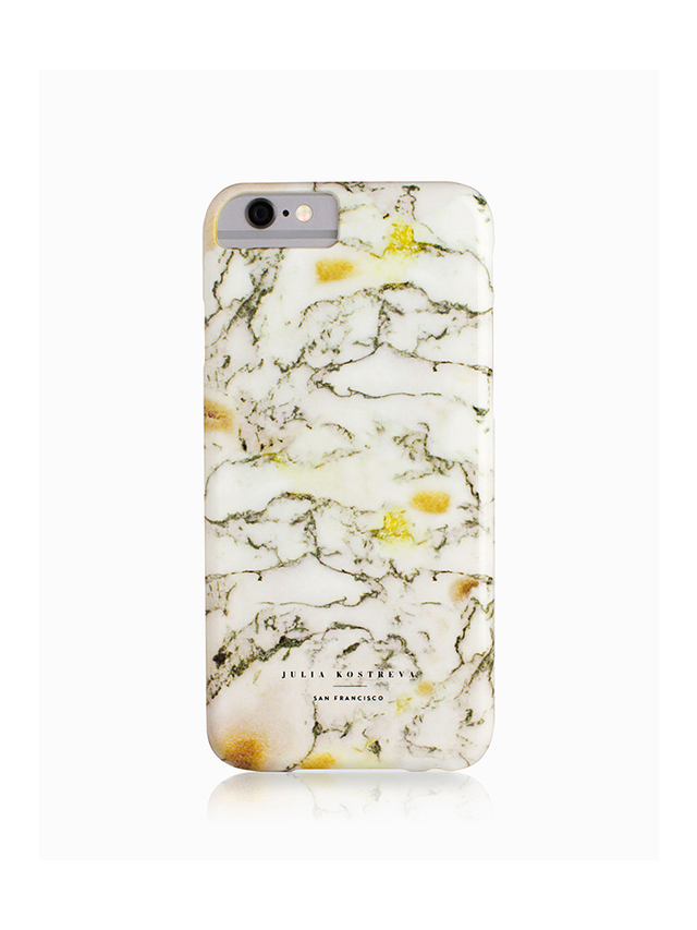 Julia Kostreva Marble-White Iphone Case