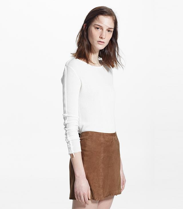 Mango Leather Skirt