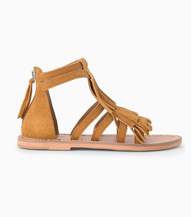 Mango Fringe Sandals