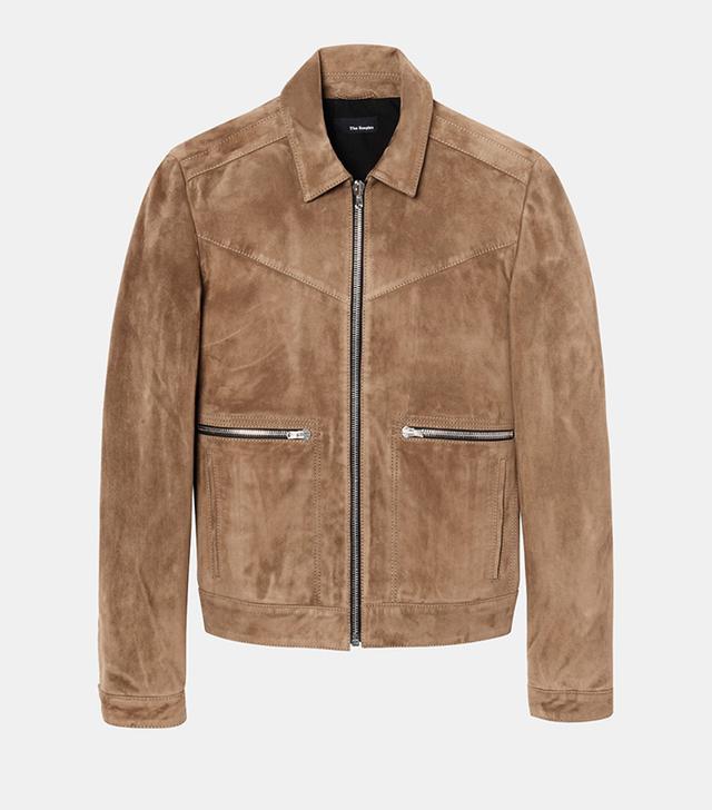 The Kooples Zip Jacket In Suede