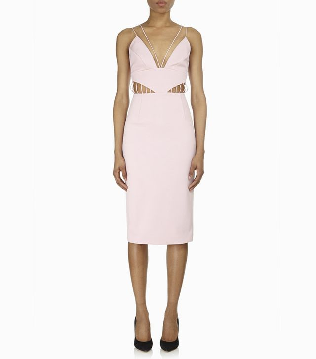 Cushnie Et Ochs Power Viscose Deep V Dress