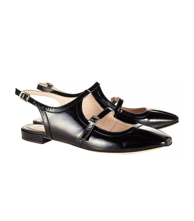 Carven Black Patent Leather Shoes