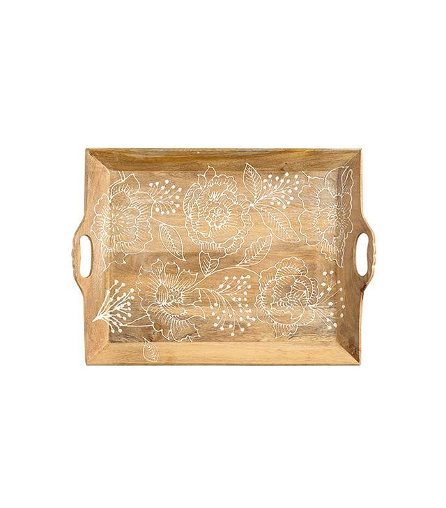 World Market Fortress Bouquet Wood Serving Tray