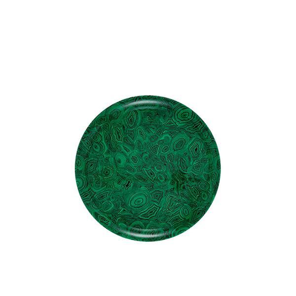 Fornasetti Green Malachite Round Tray