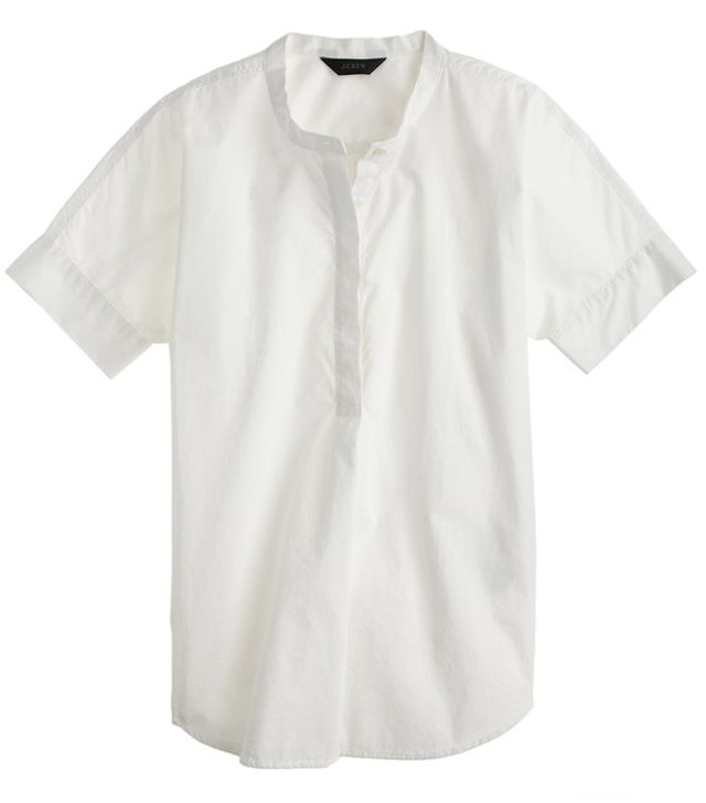 J. Crew Collarless Short-Sleeve Popover
