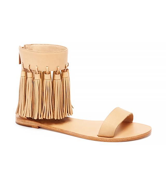 Loeffler Randall Lark Tassel Flat Sandals
