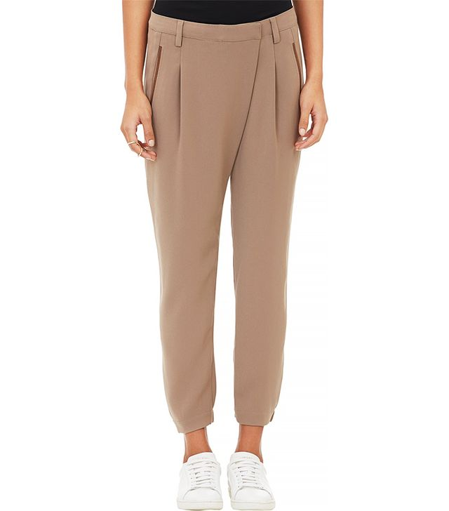 Vince Crepe Wrap-Panel Trousers