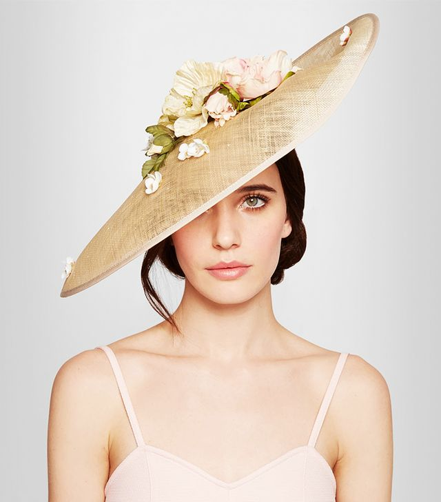Piers Atkinson Flower-Embellished Sinamay Hat