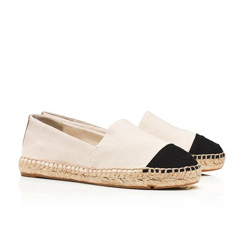 Color-Block Flat Espadrilles