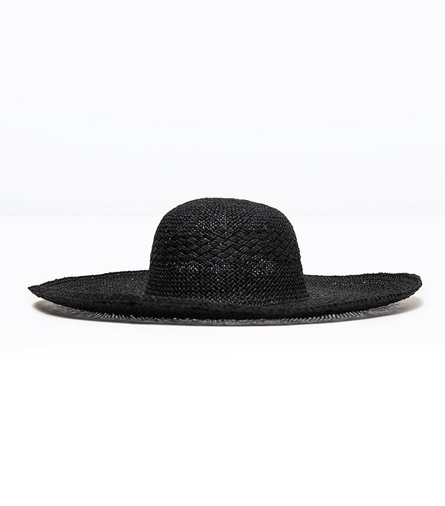 Zara Black Wide-Brim Hat