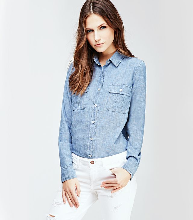 Forever 21 Two-Pocket Chambray Shirt