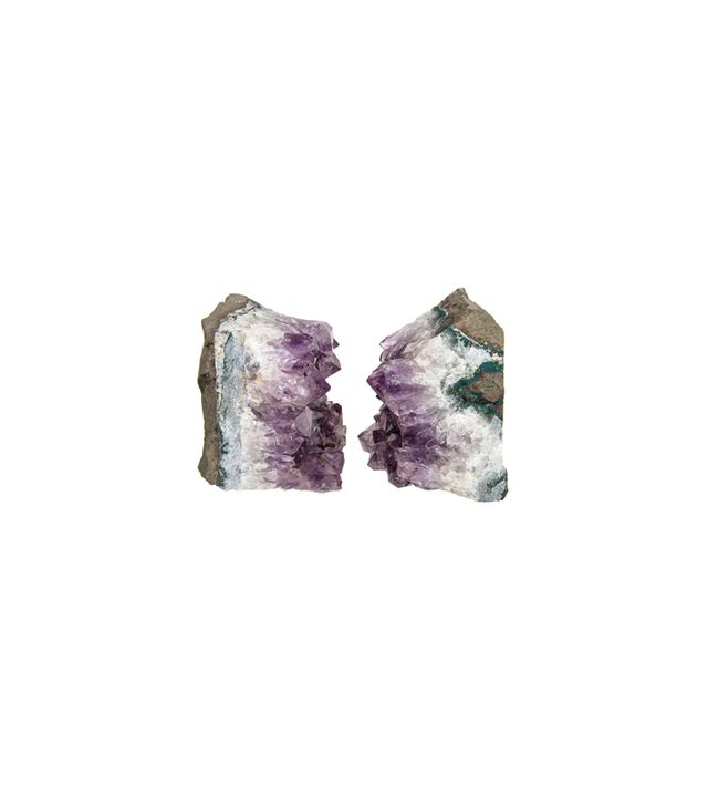 1stdibs Pair of Wedge Crystal Amethyst Quartz Bookends