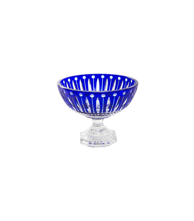 1stdibs Fine French Cut Clear and Blue Crystal Saint Louis Bowl