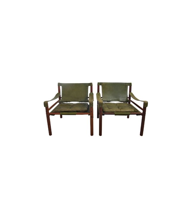 """1stdibs Arne Norell Rosewood and Leather """"Sirocco"""" Safari Chairs"""