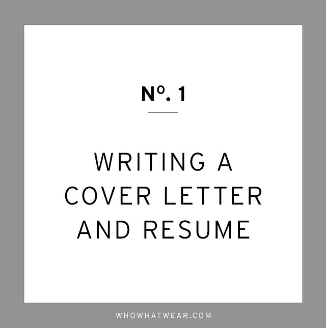 """You never get a second chance to make a first impression, and that is how you have to think of your cover letter and resumé. They are taking you on your first date. But just like in..."