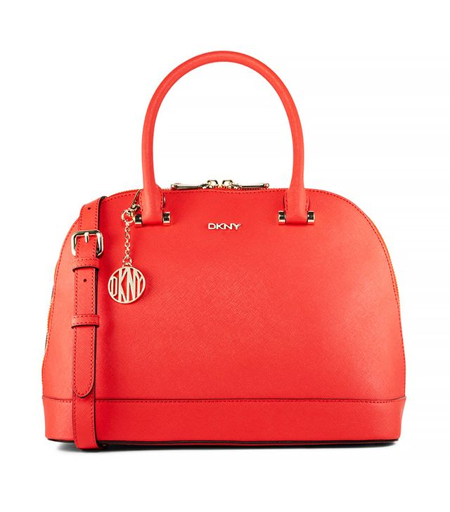 DKNY Saffiano Leather Round Satchel