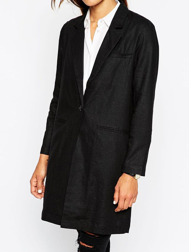 ASOS Linen Longline Blazer