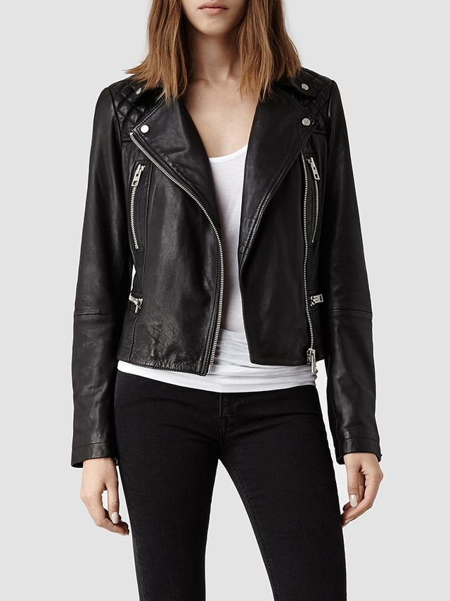 AllSaints Bleeker Leather Biker Jacket