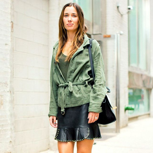 The Cool-Girl Way to Style Your Belted Jacket