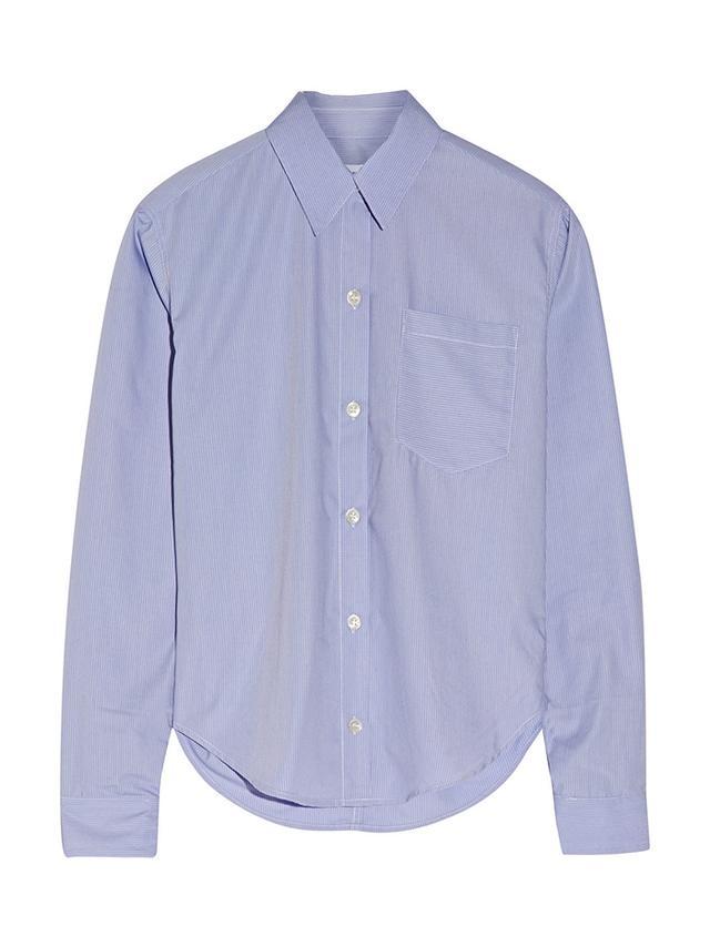 Title A Pinstriped Poplin Shirt