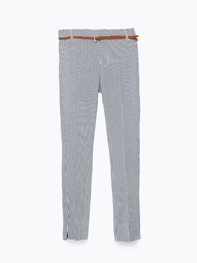 Zara Striped Trousers With Belt