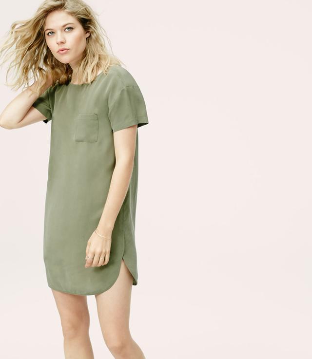 Lou & Grey Silk T-Shirt Dress
