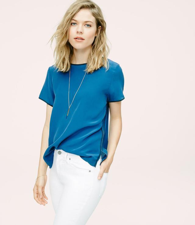 Lou & Grey Tipped Silk T-Shirt