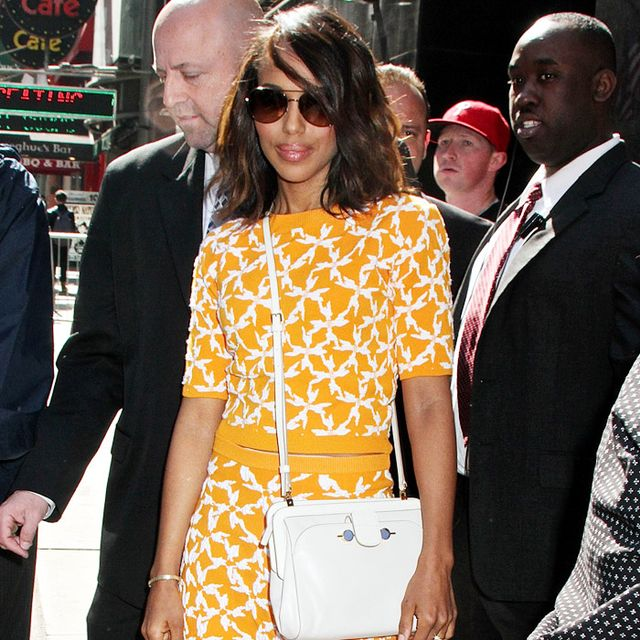 Look We Love: Kerry Washington's Bright Orange Knit Separates