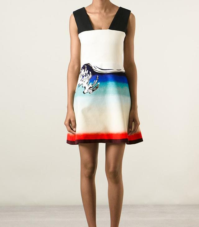 Carven Printed Flared Dress
