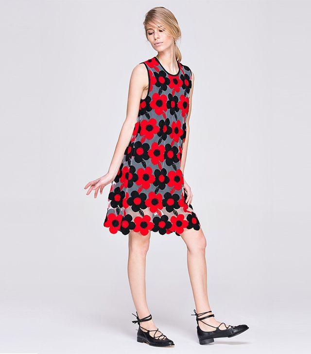 Front Row Shop Embroidered A-Line Dress