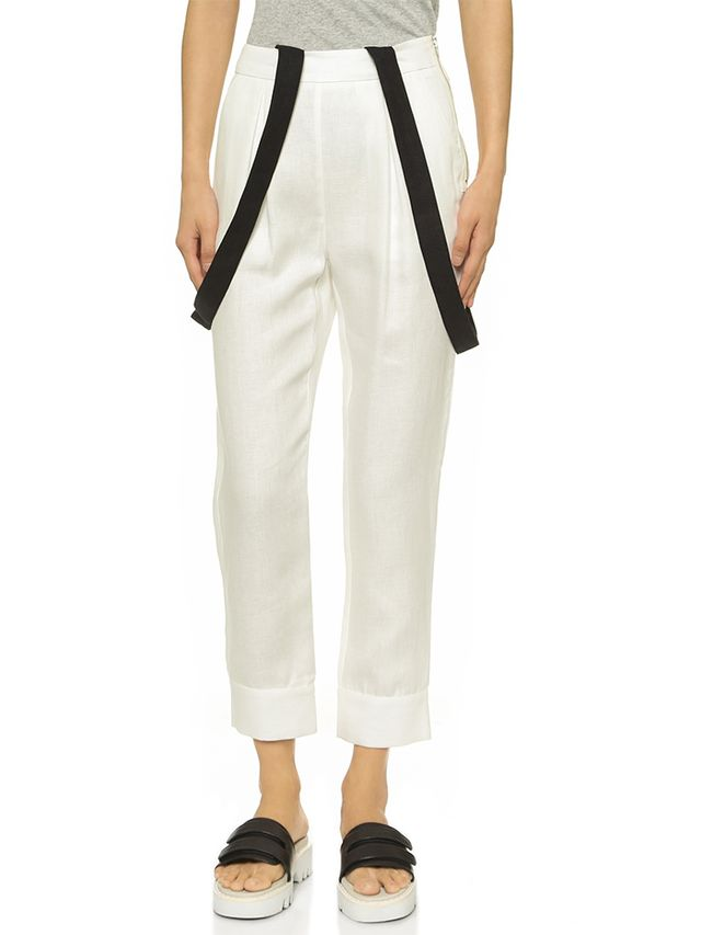 Band of Outsiders High Waisted Suspender Pants