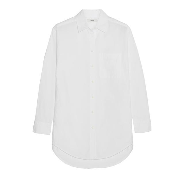 Madewell Crinkled Cotton-Poplin Shirt
