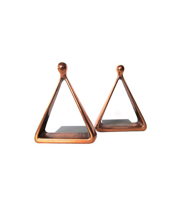 Ben Seibel For Jenfredware Copper Triangle Bookends
