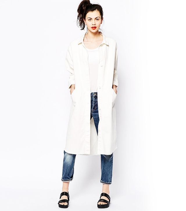 Monki Longline Denim Coat