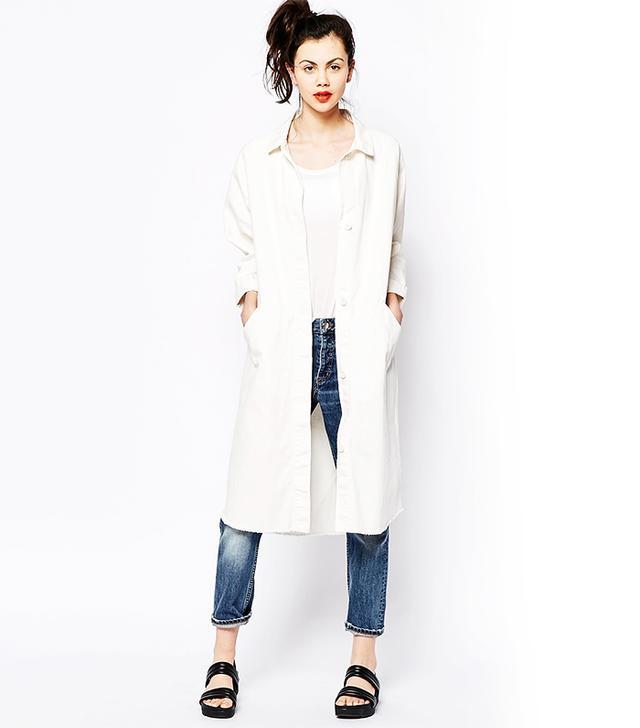 Monki Longline Denim Coat