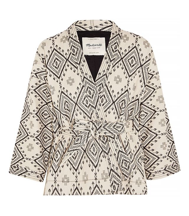 Madewell Arrowhead Cotton-Jacquard Jacket