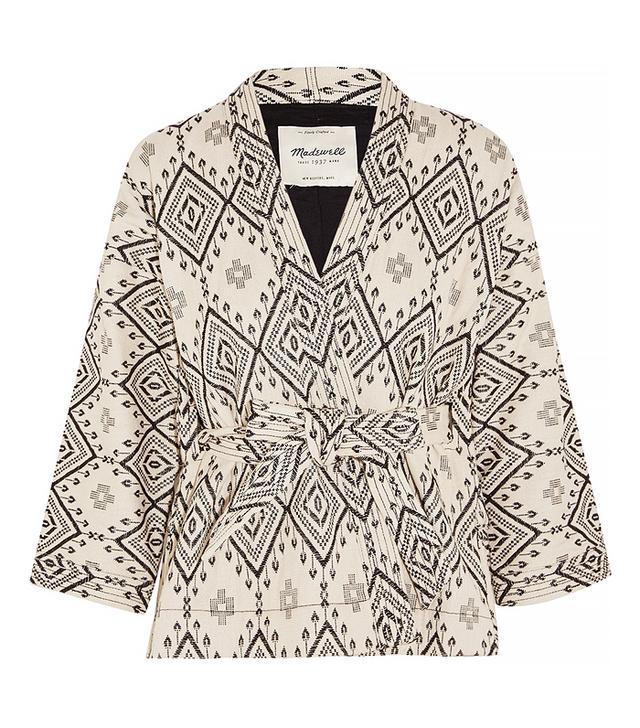 Madewell Arrowhead Cotton-Jacquard Jacket